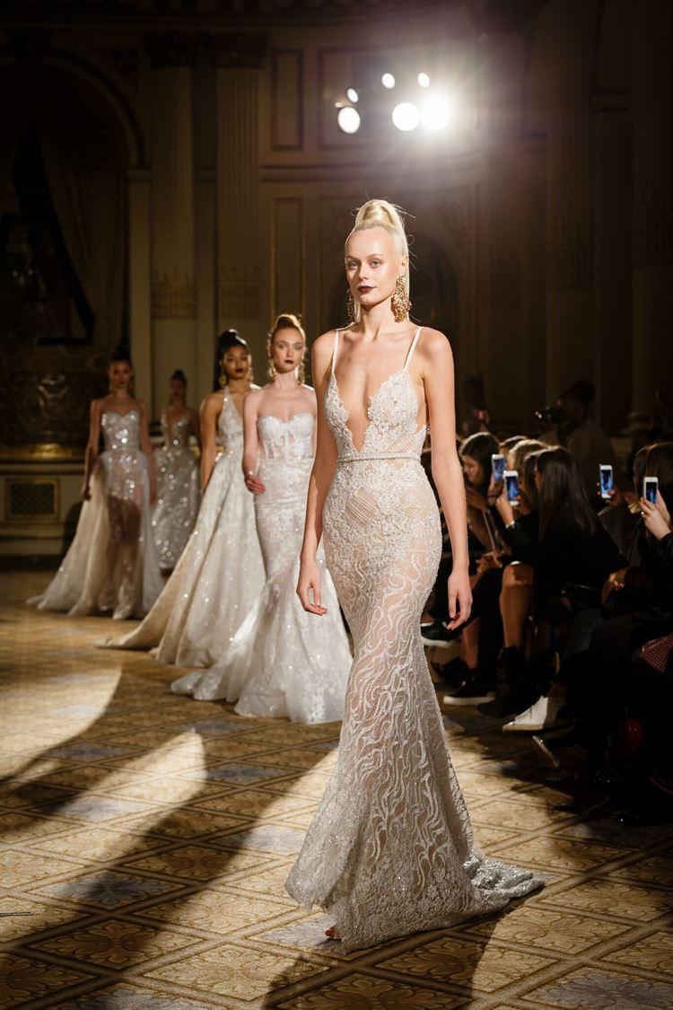 הדגמים של ברטה מככבים על המסלול הניו יורק במסגרת שבוע האופנה לכלות (צילום: יחצ)
