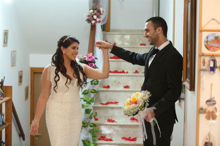 רגע לפני שהכל מתחיל, לימור ויוסי ביום חתונתם (צילום: אספוסה)