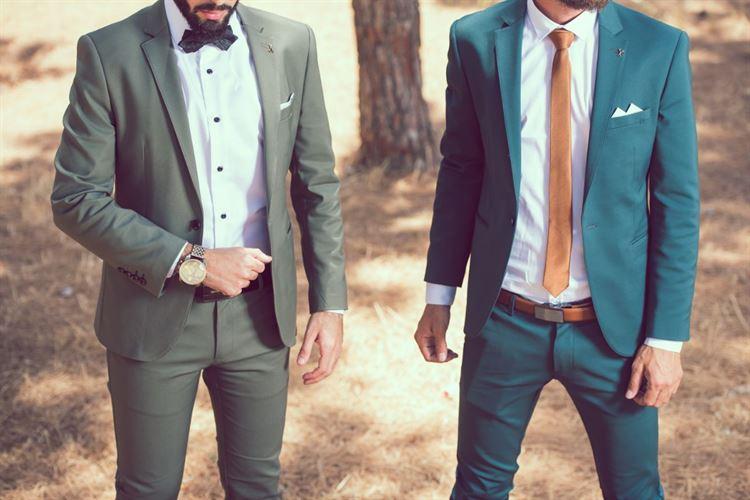 צבעים נועזים ומיוחדים, חליפות חתן בעיצובו של דניאל שלו (צילום: יחצ)