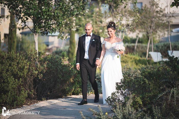 ליהי מזל טרים ולירן מור צעדים יד ביד ביום המרגש ביותר בחייהם (צילום: שמואל כהן)
