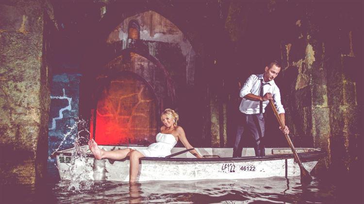 גם בחורף יכולים לצאת צילומי חתונה מגניבים (צילום: מייקל פוטוגרפי)