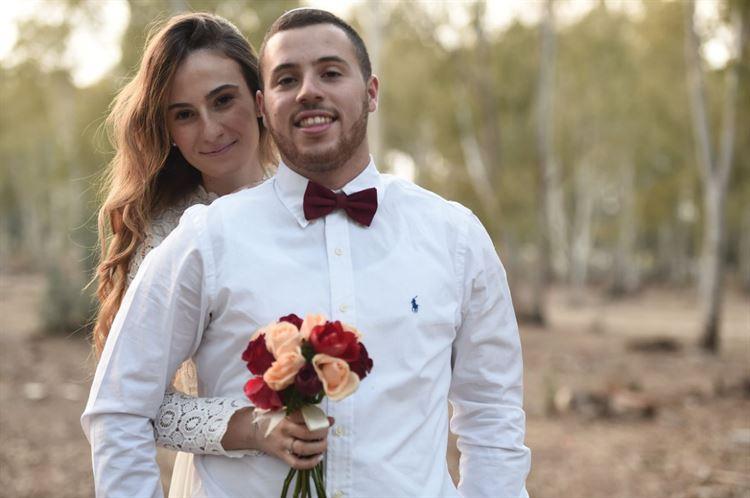 עוד תמונה זוגית של הזוג המאוהב, החתונה של שקד איבון יפרח ודניאל שפרן (צילום: תומר בן שלמה)