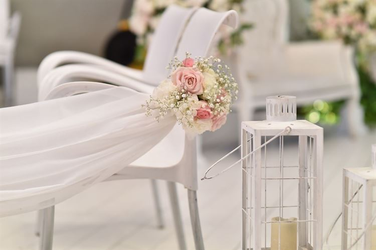 הפרחים היפיפיים שקישטו את כל האלמנטים באירוע, החתונה של שקד איבון יפרח ודניאל שפרן (צילום: תומר בן שלמה)