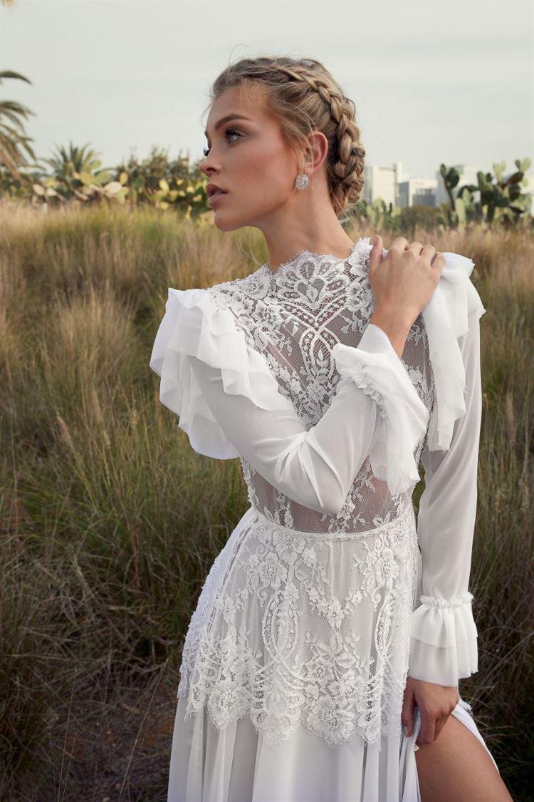 המעצבת דורלי שמה דגש גם על הפרטים הקטנים, שמלת כלה מתוך קטלוג 2018 (צילום: דניאל אלסטר)