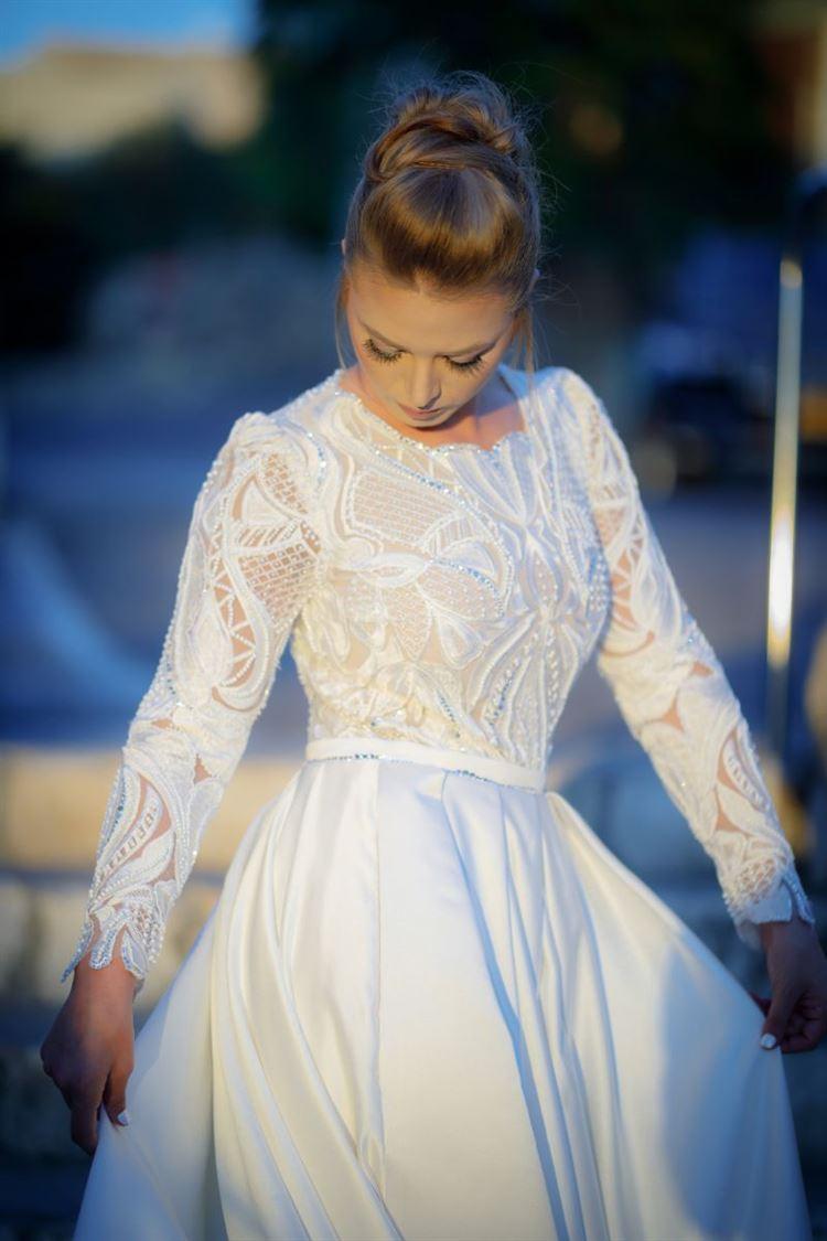 כל האלמנטים המושלמים בשמלת כלה בעיצובו של דרור קונטנטו (צילום: חמד אלמק'ת, הודא שכידם קיואן)